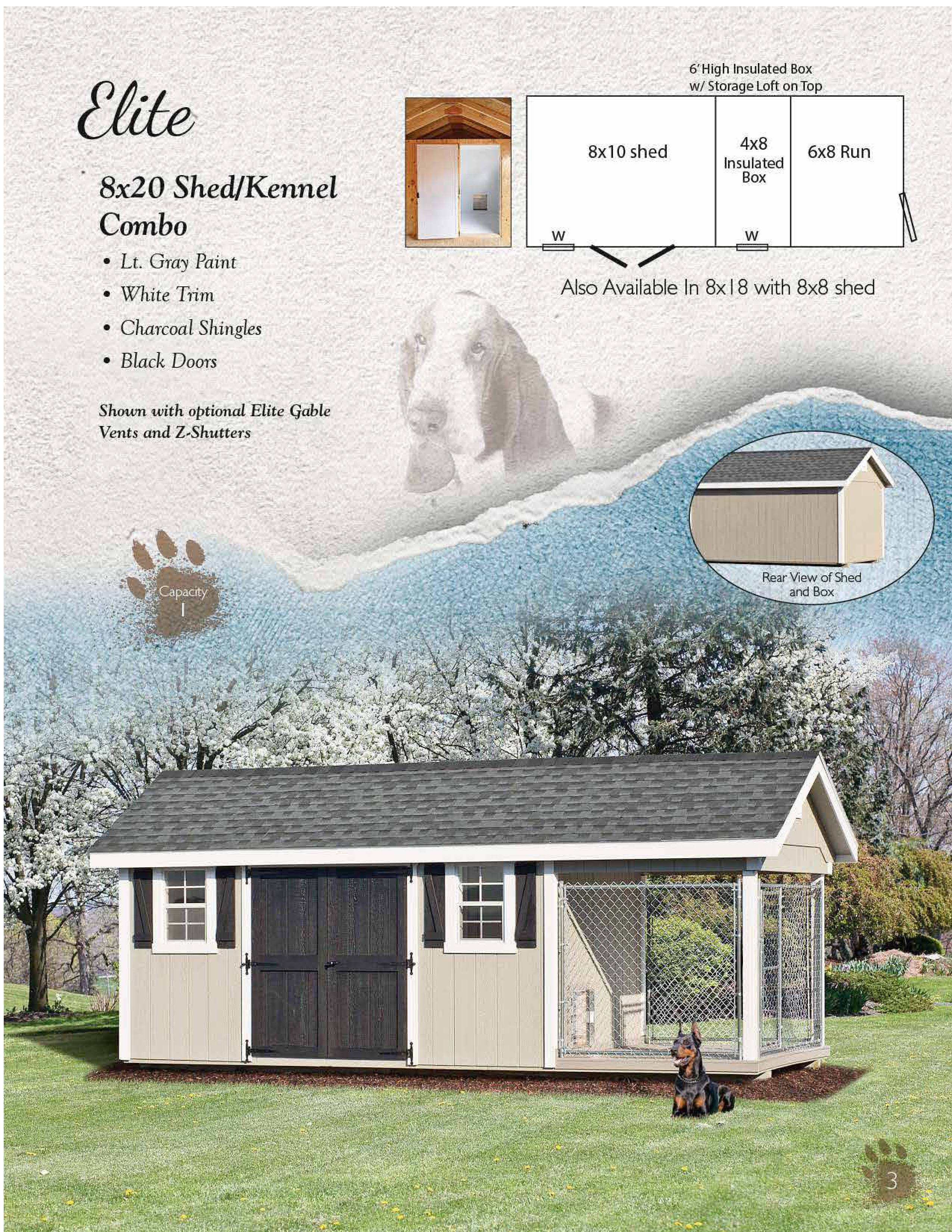 Elite 8x20 Shed Combo Dura-Temp