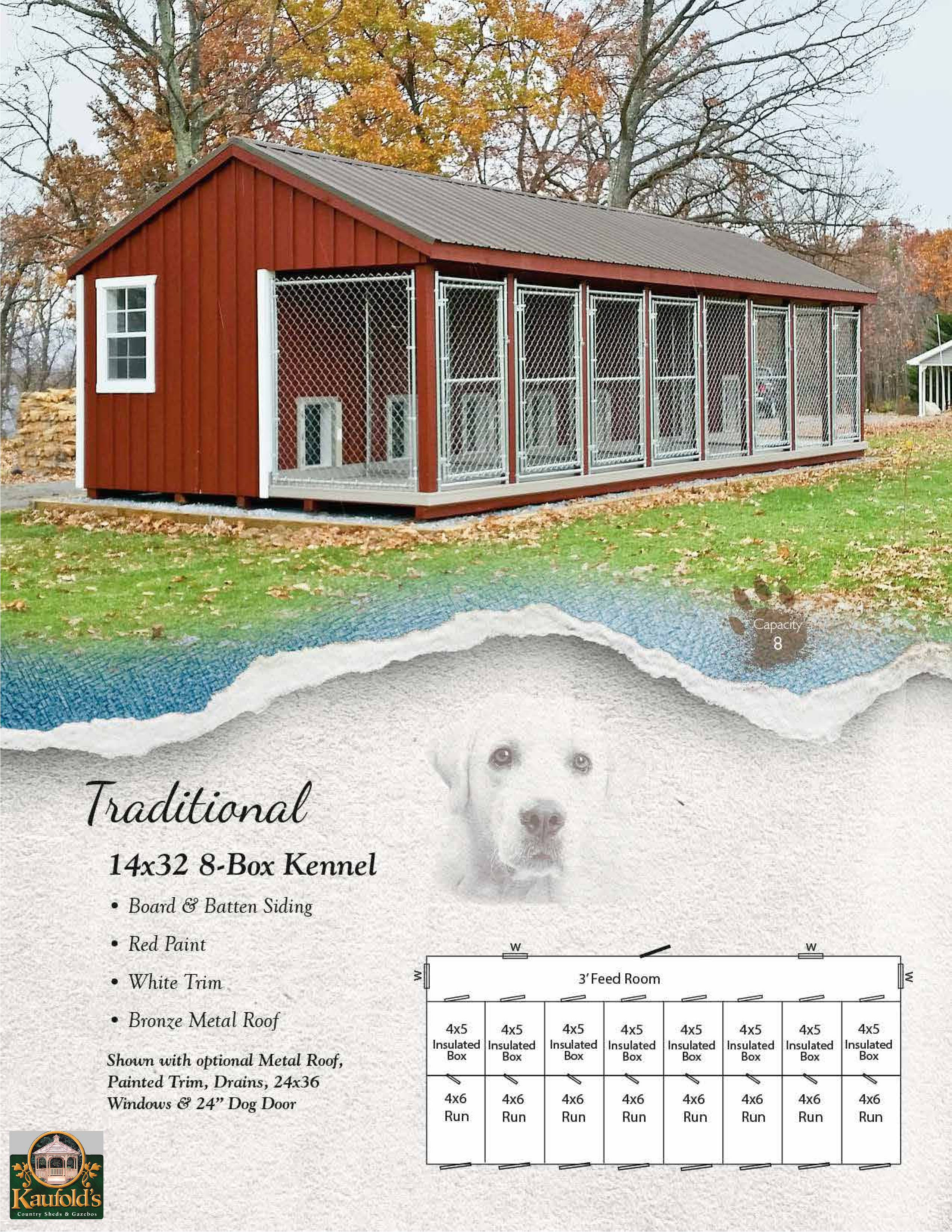 Traditional 14 x 32 Kennel