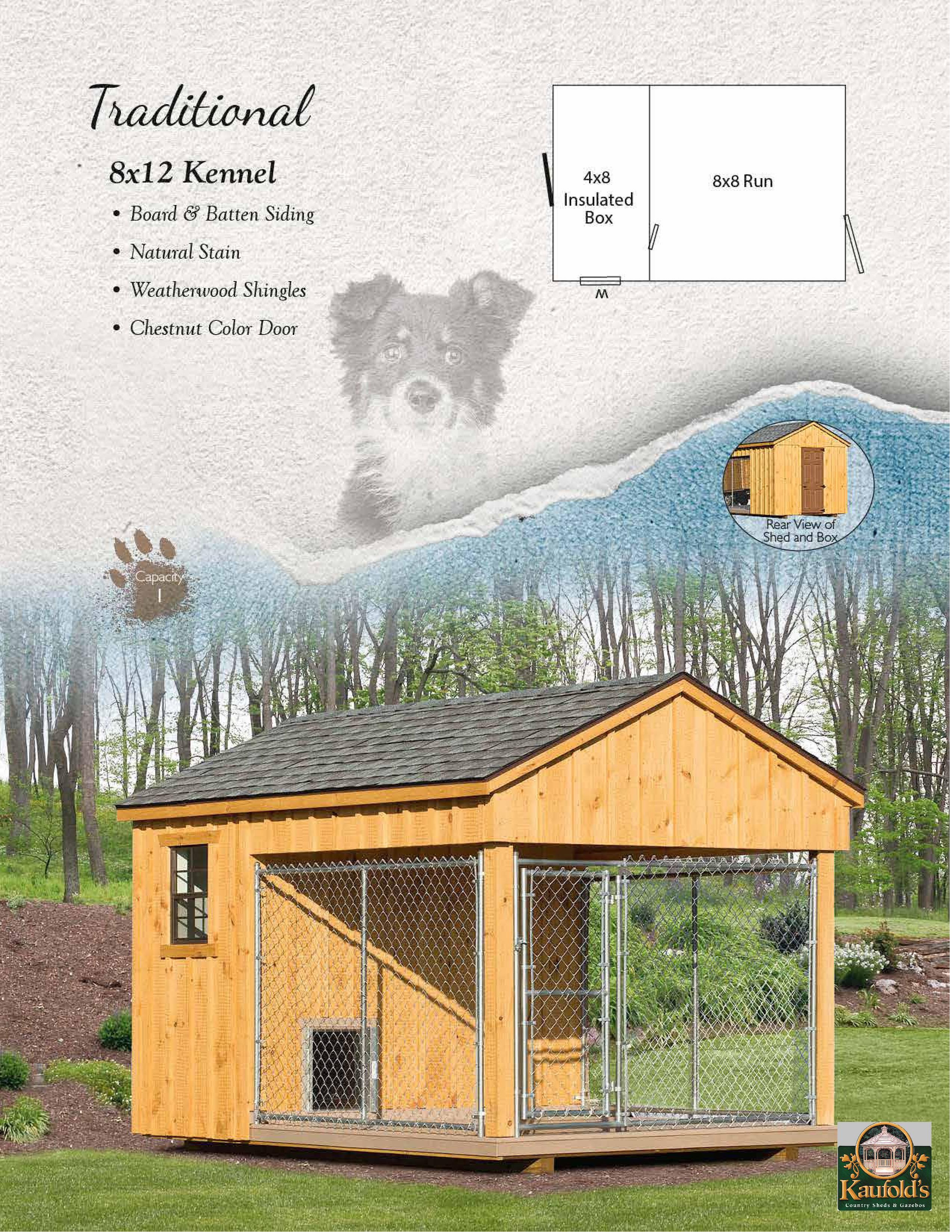 8 x 12 Pine Kennel