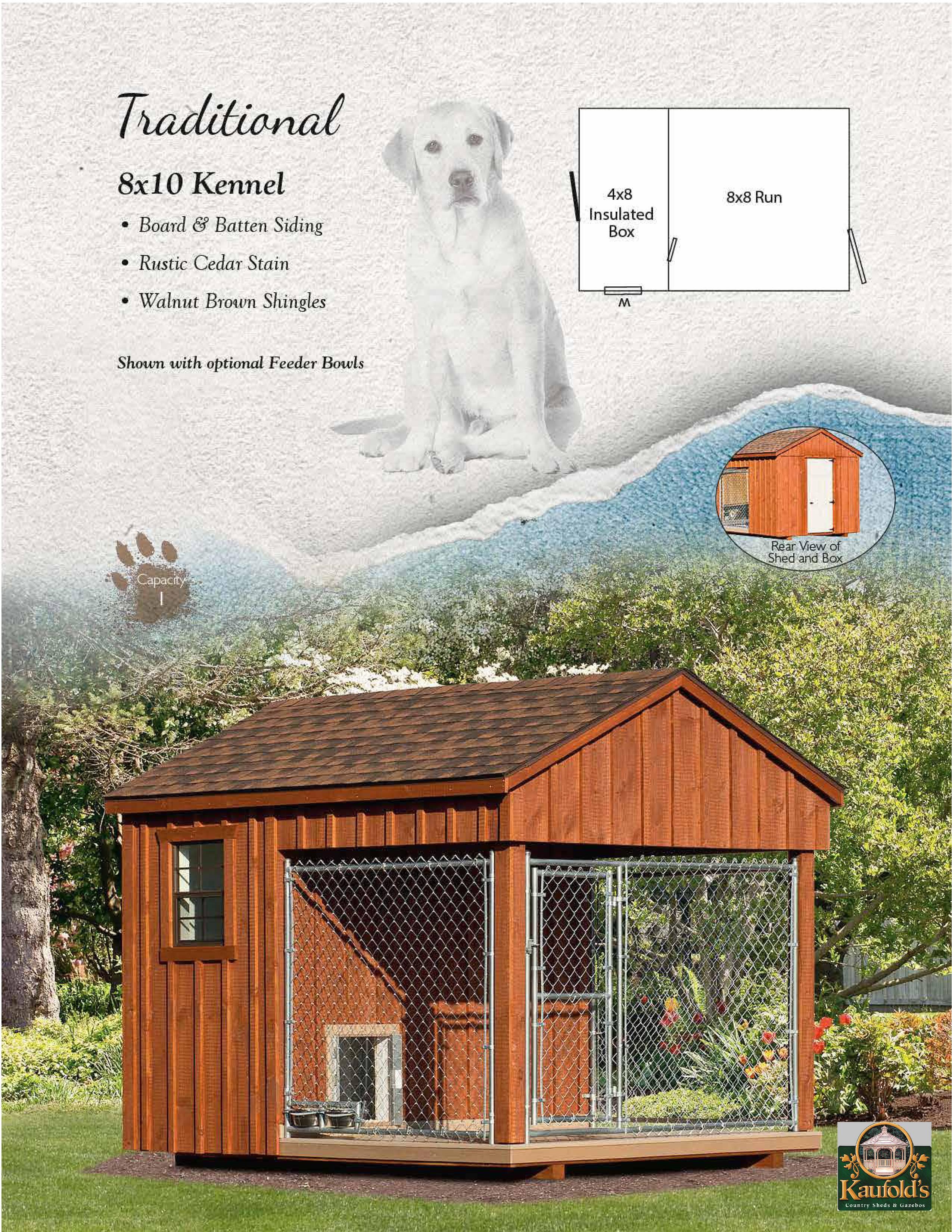 8 x 10 Pine Kennel
