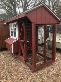 4' x 8' A Frame Combo Chicken Coop