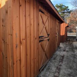 10' x 24' Quaker 2 Stall Barn with Cedar Stain