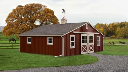 Modular horse barns for Red barn prefab